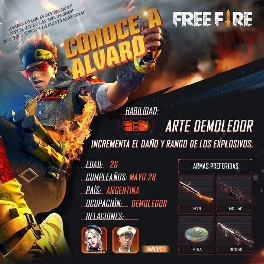 free fire alvaro