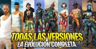 versiones de free fire